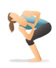 chair_twist_Revolved fatima yoga الكرسي الملتف فاطمة يوغا