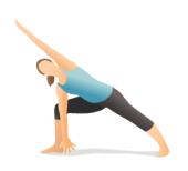 extended side angle fatima yoga