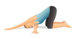 threading the needle fatima yoga