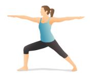 warrior_II_fatima yoga المحارب ٢ فاطمة يوغا